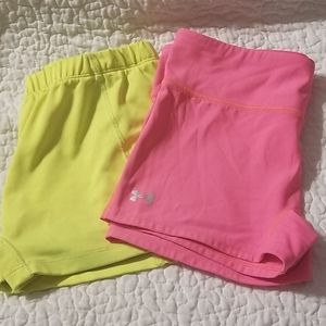 Med lot of two workout spandex shorts